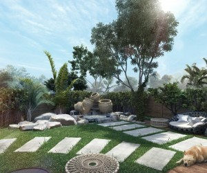 Backyard, patio, pools, arcbazar, landscape