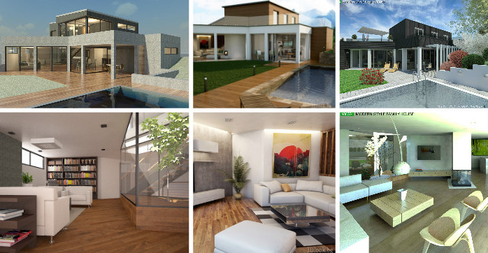 "A total of 27 designs were submitted for Andreas Schwarz's ""Modern Style Family House"" competition. These were the finalists."