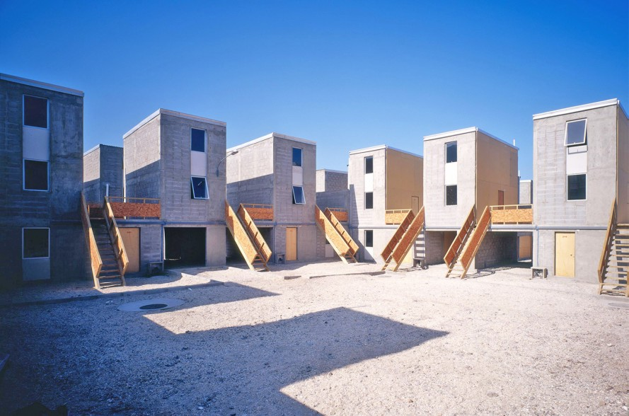 Example of Aravena's low-cost social housing architecture