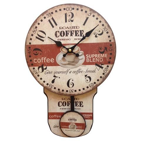wall clock coffee